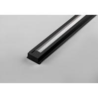 Шинопровод для трековых светильников, черный, 3м (в наборе 2 заглушки, крепление) CAB1000