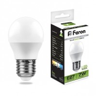 Лампа светодиодная LB-95 (7W) 230V E27 4000K G45