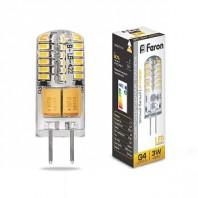 Лампа светодиодная Feron LB-422 (3W) 12V G4 2700K капсула силикон 11x38mm