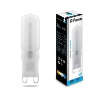 Лампа светодиодная Feron LB-431 (7W) 230V G9 6400K 16x60mm