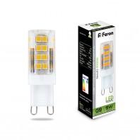 Лампа светодиодная филамент Feron LB-432 (5W) 230V G9 4000K 16x50mm