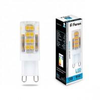 Лампа светодиодная филамент Feron LB-432 (5W) 230V G9 6400K 16x50mm