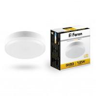 Лампа светодиодная Feron LB-453 (12W) 230V GX53 2700K, для натяжных потолков