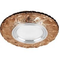 Светильник встраиваемый CD907 15LED*2835 SMD 4000K, MR16 50W G5.3, коричневый, хром
