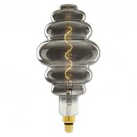 Лампа светодиодная SOHO. LED-SF40-5W/SOHO/E27/CW CHROME/SMOKE GLS77CR. Хромированная/дымчатая колба. Спиральный филамент. Картон. ТМ Uniel