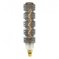 Лампа светодиодная SOHO. LED-SF41-5W/SOHO/E27/CW CHROME/SMOKE GLS77CR. Хромированная/дымчатая колба. Спиральный филамент. Картон. ТМ Uniel