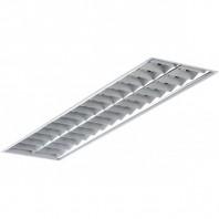 Светильник люминесцентный ARS/R 2x18 встраиваемый зеркальная решетка (1015000020)