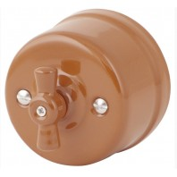 """Выключатель  """"Дорато"""" проходной  1 положение, керамический. 240V, 10A"""