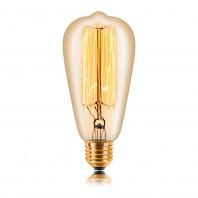 Ретро лампа накаливания Эдисона «Vintage» ST64 F2 40W Золотая