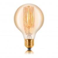 Ретро лампа накаливания Эдисона «Vintage» G80 F2 40W 240V E27 Золотая