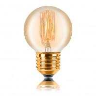 Ретро лампа накаливания Эдисона «Vintage» G45 F2 25W 240V E27 Золотая