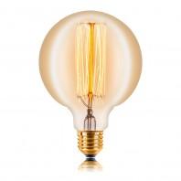 Ретро лампа накаливания Эдисона «Vintage» E27 G125 F2 2200K 60W 240V E27 Прозрачная