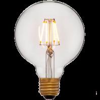 Ретро лампа светодиодная Эдисона «Vintage» G95 4C2 Не диммируемая; Без мерцания; Золотая; E27, 2200K, 400Lm, 4W, 240V