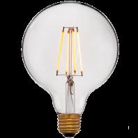 Ретро лампа накаливания Эдисона «Vintage» G125 4C2 Не диммируемая; Без мерцания; Золотая; E27, 2200K, 400Lm, 4W, 240V