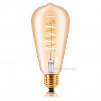 Ретро лампа светодиодная Эдисона «Vintage» ST64 DIM 5W SF-8, Золотая