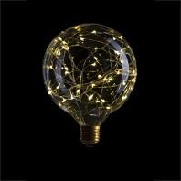 Декоративная светодиодная лампа серии LED G125 Starry 40LED, 2200K, 1,5W, E27, 220V, 150lm