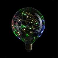 Декоративная светодиодная лампа серии LED G125 Starry  RGB 40LED, RGB, 1,5W, E27, 220V, 150lm