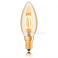Ретро лампа светодиодная Эдисона «Vintage» C35, 4W, CURVE FILAMENT, ДИММИРУЕМАЯ