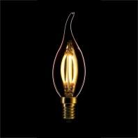 Ретро лампа светодиодная Эдисона «Vintage» CF35, 4W, CURVE FILAMENT, ДИММИРУЕМАЯ