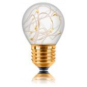 Ретро лампа светодиодная LED G45 Starry, E27, золотая, 057-226