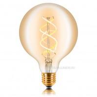 Ретро лампа светодиодная Эдисона «Vintage»G125 SW G125 LED 5W SF-8, Golden, IC, E27 057-370