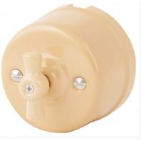 """Выключатель """"Нуволато"""" проходной  1 положение, керамический. 240V, 10A."""