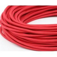 Провод одножильный ПВХ, в полиэфирной оплетке ПДК 2х0.75 Красный