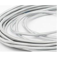 Провод одножильный ПВХ, в полиэфирной оплетке ПДК 2х0.75 Серебристый шелк