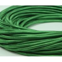 Провод одножильный ПВХ, в полиэфирной оплетке ПДК 2х1.5 Зеленый шелк