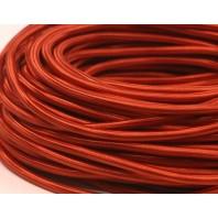 Провод одножильный ПВХ, в полиэфирной оплетке ПДК 2х1.5 БP Красный шелк
