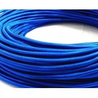 Провод одножильный ПВХ, в полиэфирной оплетке ПДК 2х1.5 БP Синий шелк
