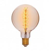 Ретро лампа Эдисона G150 F5 95W 240V E40 Золотая