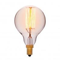 Ретро лампа накаливания Эдисона «Vintage» G45 F2 40W 240V E12 Золотая