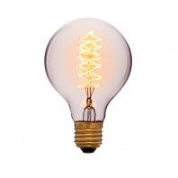Ретро лампа накаливания Эдисона «Vintage» G80 F5 40W 240V E27 Золотая