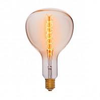 Ретро лампа Эдисона R180 F5 95W 240V E40 Золотая