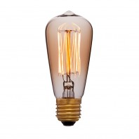 Ретро лампа накаливания Эдисона «Vintage» ST48 F2 25W 240V E27 Золотая