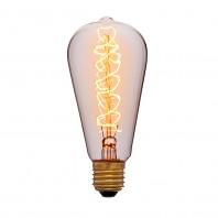 Ретро лампа накаливания Эдисона «Vintage» ST64 F5 40W E27 220V Золотая