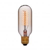 Ретро лампа накаливания Эдисона «Vintage»T45 F5+ 60W 240V E27 Золотая