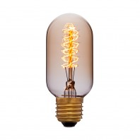Ретро лампа накаливания Эдисона «Vintage»T45 F5 40W 240V E27 Золотая
