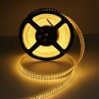 Открытая светодиодная лента теплого белого свечения 3528 1200 LED, IP 20,19,2 Вт/м, 24V