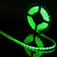 Герметичная светодиодная лента зеленый 3528 600 LED, IP 20, 9,6 Вт/м, 12V