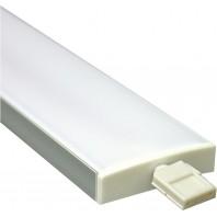 Профиль алюминиевый широкий, серебро, CAB284.