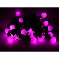 Гирлянда светодиодная LED шарики РОЗОВЫЙ 5м соединяемая до 20 шт