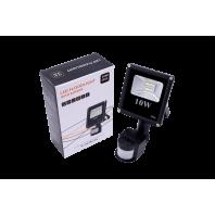 Прожектор светодиодный SMD 5630 6500K FL-SMD-10-CW-S с датчиком движения
