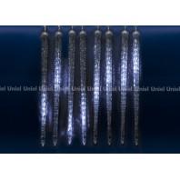 Занавес светодиодный фигурный «Сосульки» ULD-E3005-300/DTK WHITE IP44 ICICLE