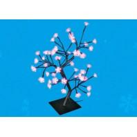 """Дерево светодиодное """"Сакура"""" ULD-T3545-048/SBA PINK IP20 SAKURA, 45 см. 48 светодиодов. Розовый свет."""