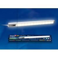 Светодиодный светильник с датчиком движения ULM-F03-8W/WW/MS IP40 SILVER картон Длина 35 см. Белый свет.