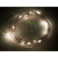 Гирлянда светодиодная Роса 2м 20LED теплый белый