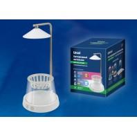 Светильник для растений светодиодный, с подставкой и декоративной емкостью. Белый свет(4000K) + cпектр для рассады и цветения. ULT-P36-3W/4000K+SPSB IP40 WHITE