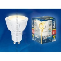 Светодиодная лампа LED-JCDR-6W/WW/GU10/FR/38D ALP01WH пластик